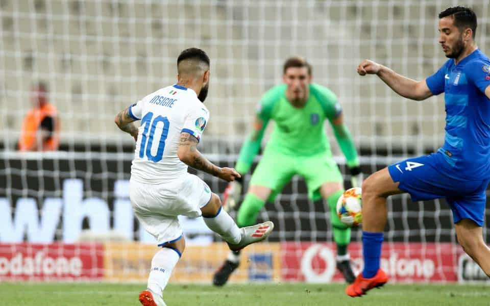Italy dominate Greece in Euro 2020 Qualifier in Athens