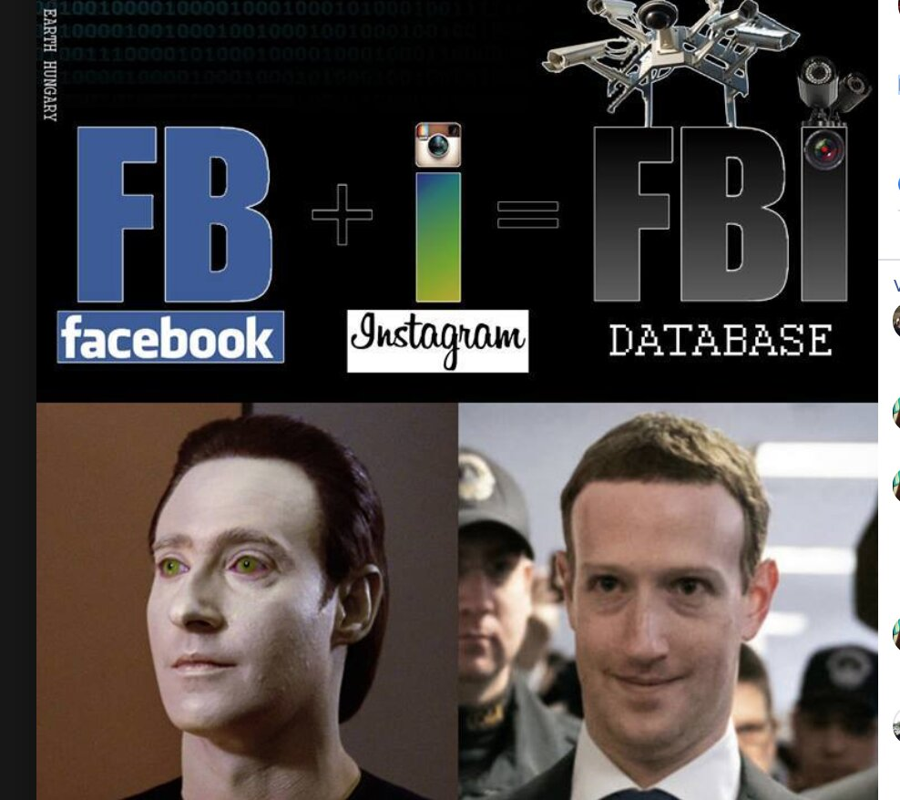 FaceBook + Instagram = F.B.I. DATABASE