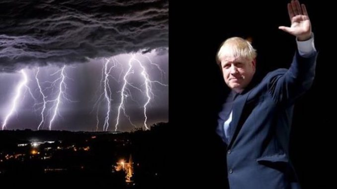 UK Hit By '48,000 Lightning Strikes' Night Boris Johnson Became PM