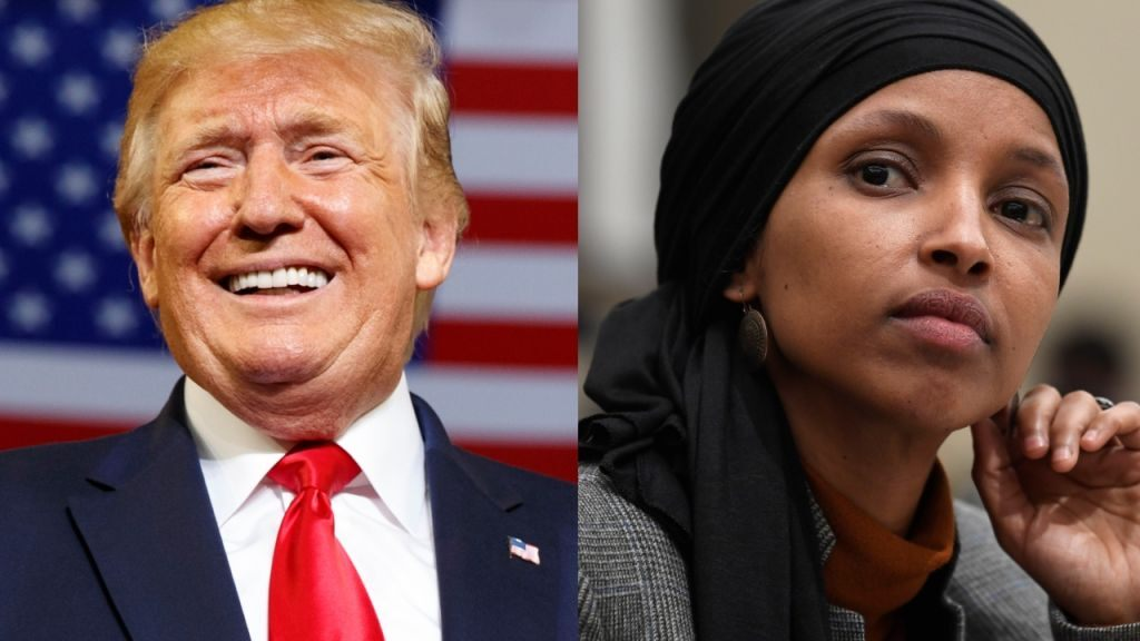 'Send her back' cheer aimed at Omar during Trump rally hits nerve
