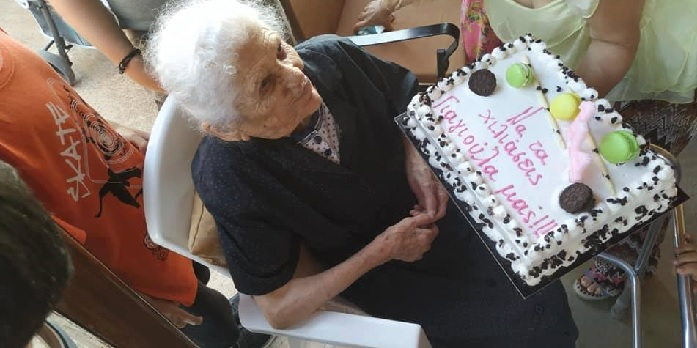 Greece's Oldest Woman Celebrates Her 114th Birthday (video)