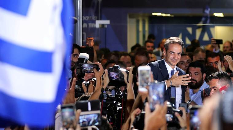 Greek Conservatives take charge in landslide win, vow more investment, fewer taxes
