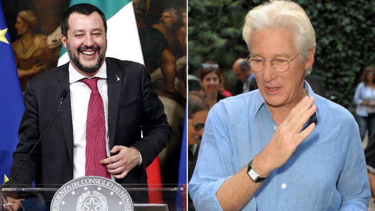 'Bring migrants to Hollywood': Salvini mocks Richard Gere for wading into Mediterranean crisis
