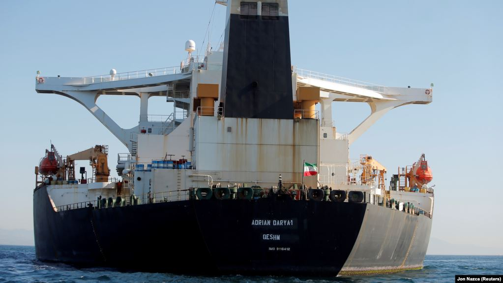 Iran tanker heads to Greece, US warns against helping vessel
