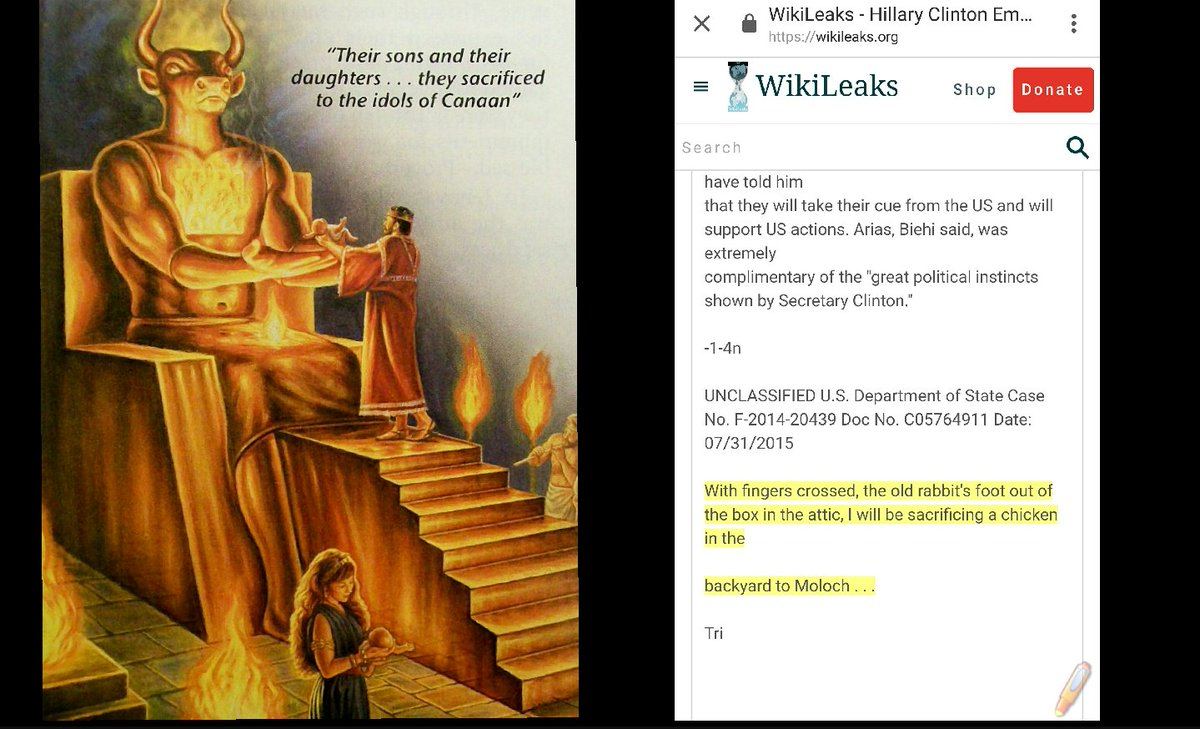 Hillary Clinton and her cronies worship the god Moloch and other ancient deities???