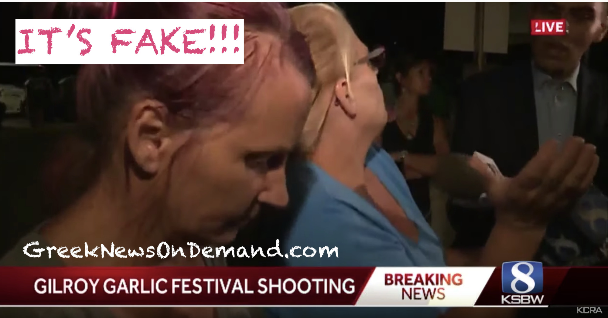 Gilroy Garlic Festival: Eye witnesses: At least TWO gunman. The gov't & media say only 1! #FalseFlag