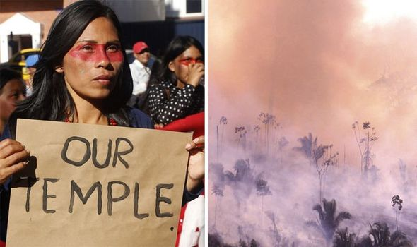 Amazon fire: Devastating blazes 'linked to a tribe's successful lawsuit against big oil'