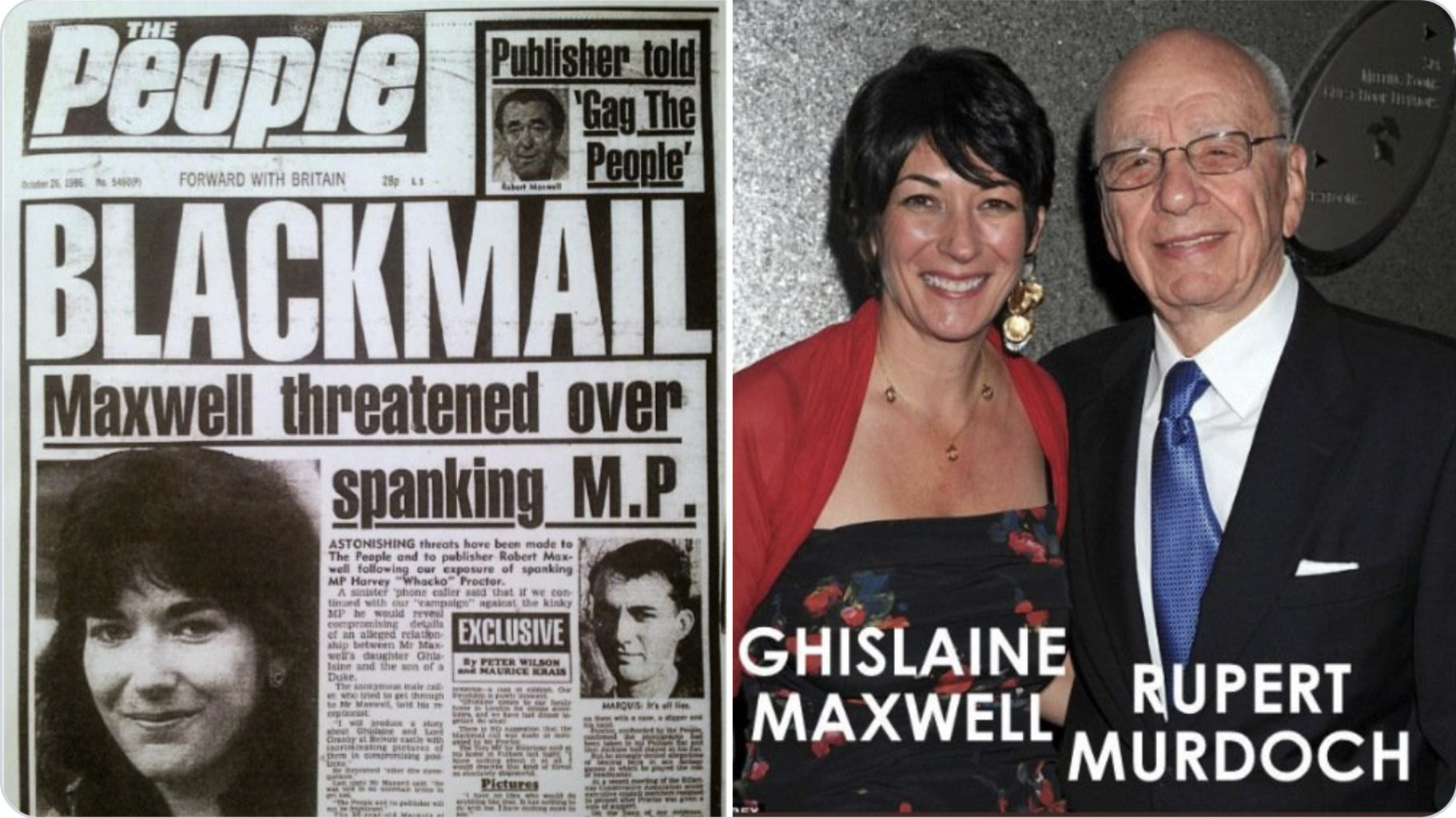 The NY Post (=Rupert Murdoch/Fox News) STAGED & photoshopped the #GhislaineMaxwell photos!