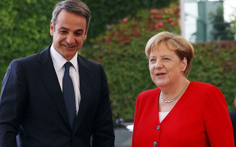 Mitsotakis – Merkel: EU-Turkey statement has to be implemented.