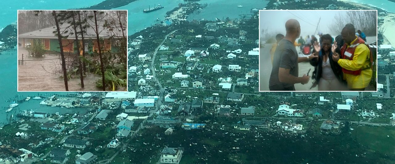 Hurricane death toll rises to 7 in Bahamas' 'greatest national crises,' PM says; US monitors path