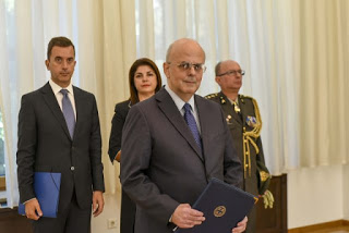 "President Pendarovski receives credentials of first Greek TRAITOR Ambassador to ""Macedonia"""