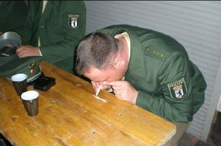 Police in Chile snorting coke before attacking students in protests
