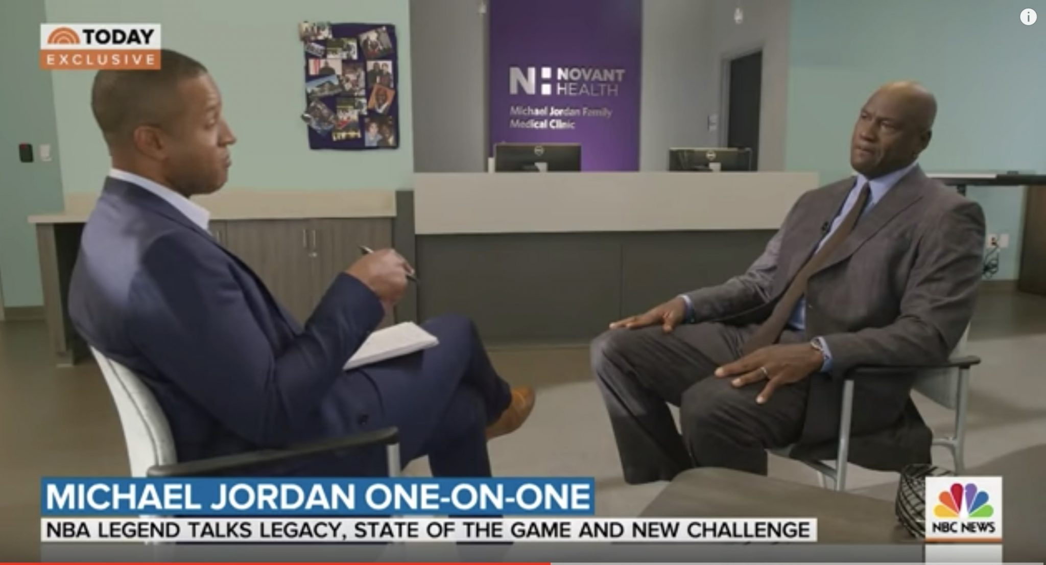 Michael Jordan On NBA Players' Activism: 'I Support That' | TODAY