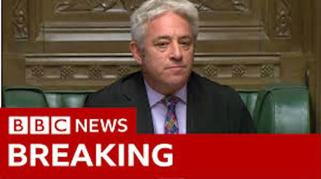 Brexit: MPs' vote on deal ruled out by Speaker John Bercow