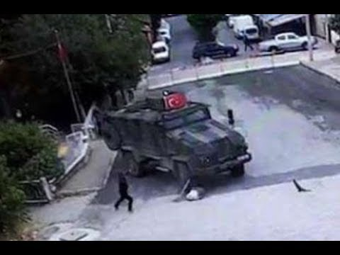 TURKISH DRIVER IN MILITARY VEHICLE INTENTIONALLY RUNS OVER OLD KURDISH WOMEN