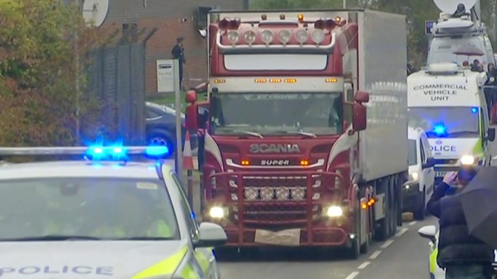 Essex lorry deaths: 39 bodies found in shipping container