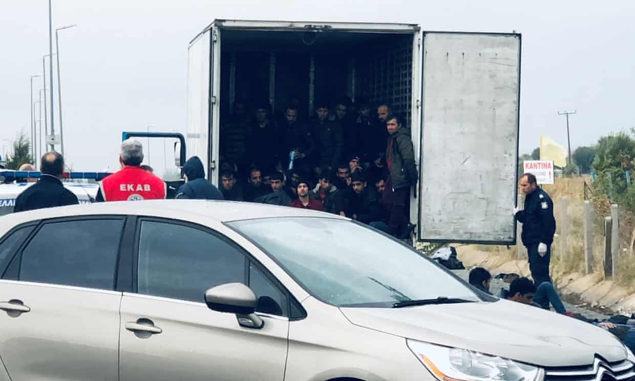 Police find 41 migrants alive in refrigerated truck in Greece