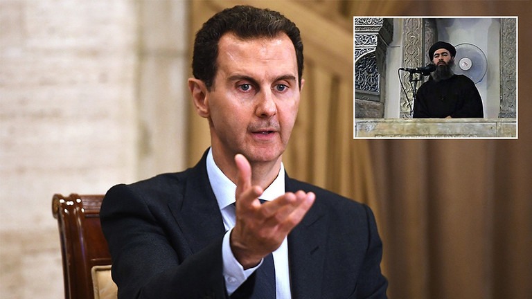 'Americans will RESPAWN al-Baghdadi': Assad casts doubt on ISIS leader's death, draws parallels with Bin Laden's killing