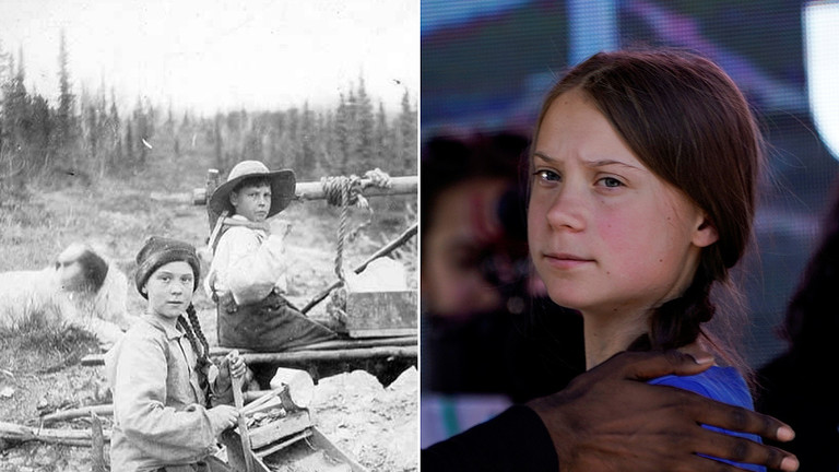Back to the future? 120-year-old photo of Greta Thunberg doppelganger sparks jokes about 'time traveling' climate activist
