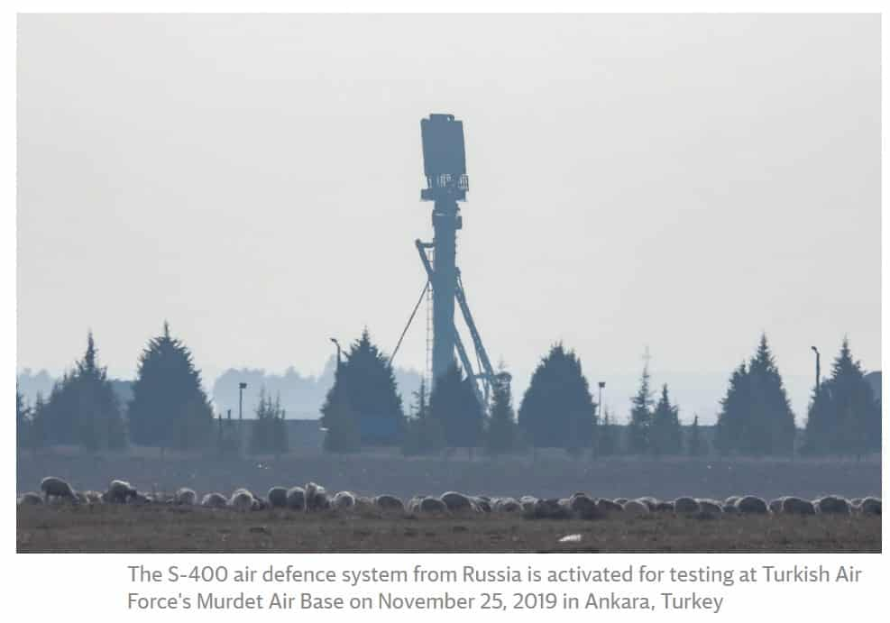 Erdogan using Russian S400 to track American and Israeli F-35s
