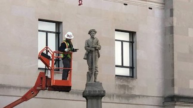 STRAIGHT RETARD: North Carolina courthouse removes Confederate statue, saying it's time 'to move forward'