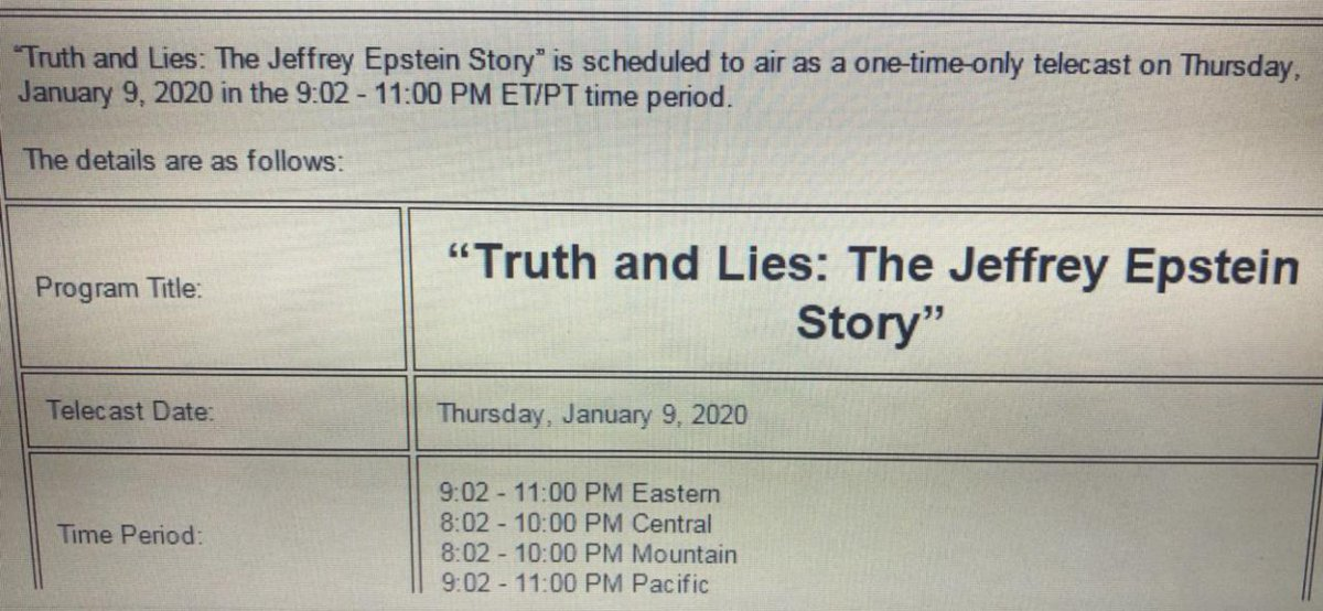 ABC News Insider leaks to Project Veritas the proposed date for the Jeffrey Epstein story they have been sitting on for over three years