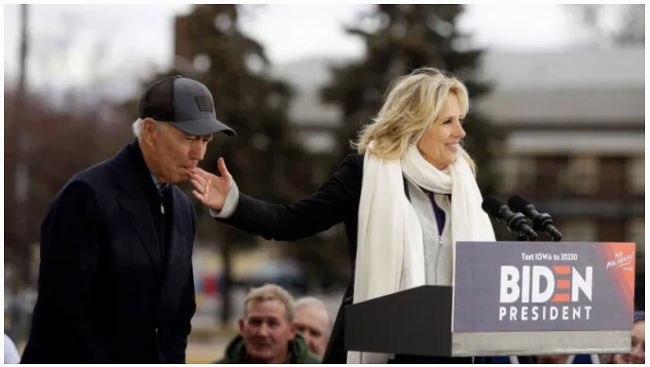 Joe Biden Bites On His Wife's Finger During Iowa Campaign Stop