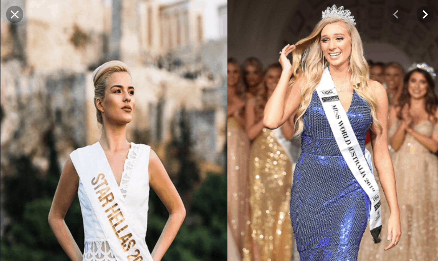 Miss Hellas claims she was viciously attacked by Miss Australia