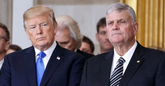Franklin Graham slams Christianity Today for invoking father's name in call for Trump's removal