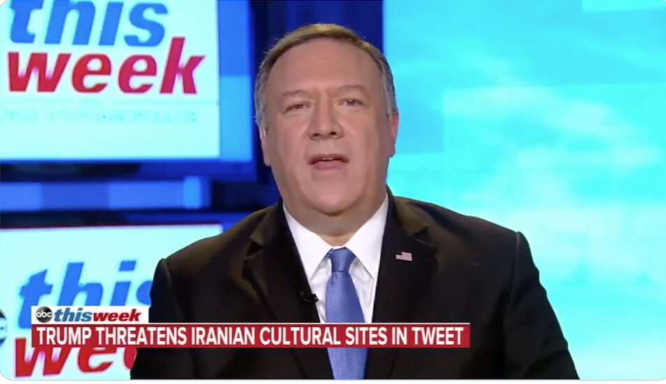 Pig #Pompeo refuses to deny the possibility that the #US will target Iranian Cultural sites.