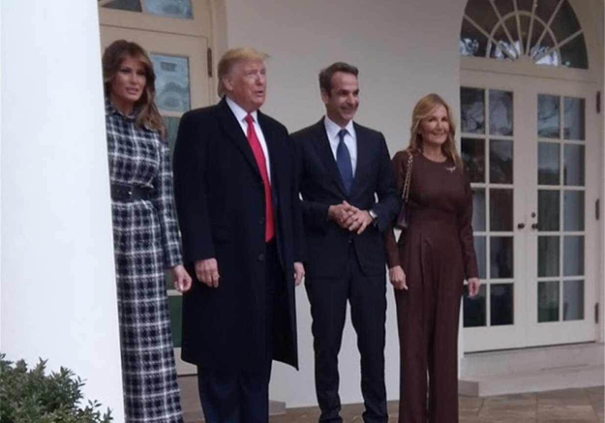 Trump continues tough rhetoric on Iran in meeting with Greece's prime minister Kyriakos Mitsotakis