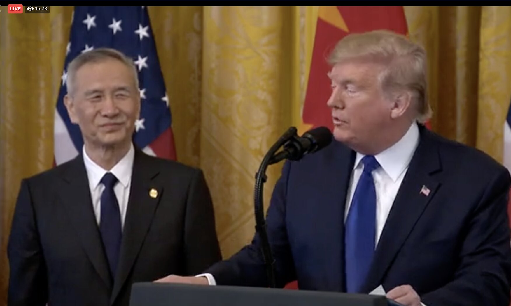 President Trump Participates in a Signing Ceremony of an Agreement Between the U.S. and China