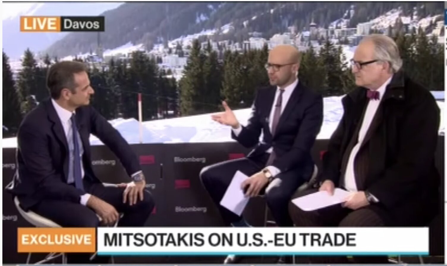 Prime Minister Kyriakos Mitsotakis' interview on Bloomberg