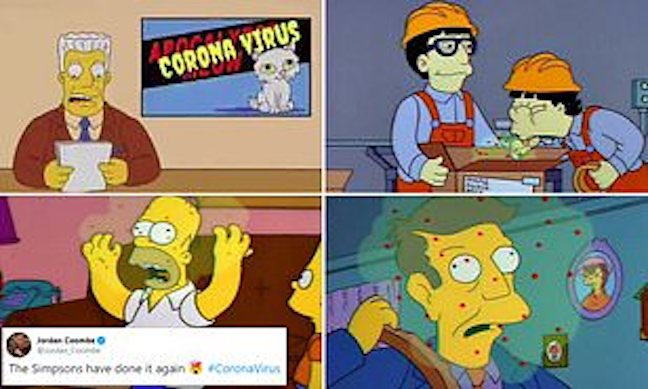 Did The Simpsons also predict coronavirus? Fans claim storyline about flu outbreak spreading from Japan to the US bears eerie similarities to deadly outbreak