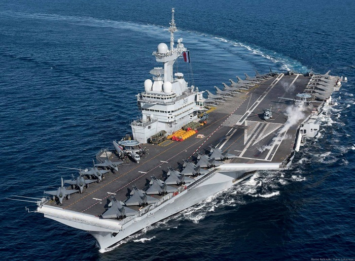 France's Flagship Aircraft Carrier Sends Message of Support From Cyprus' EEZ