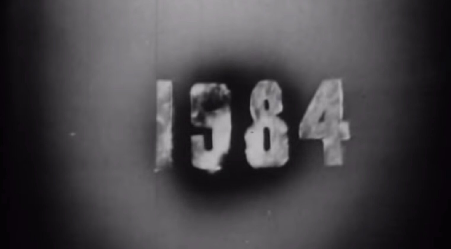 "Movie ""1984"" from 1953 by George Orwell predicts modern technology like flat screen TVs!"