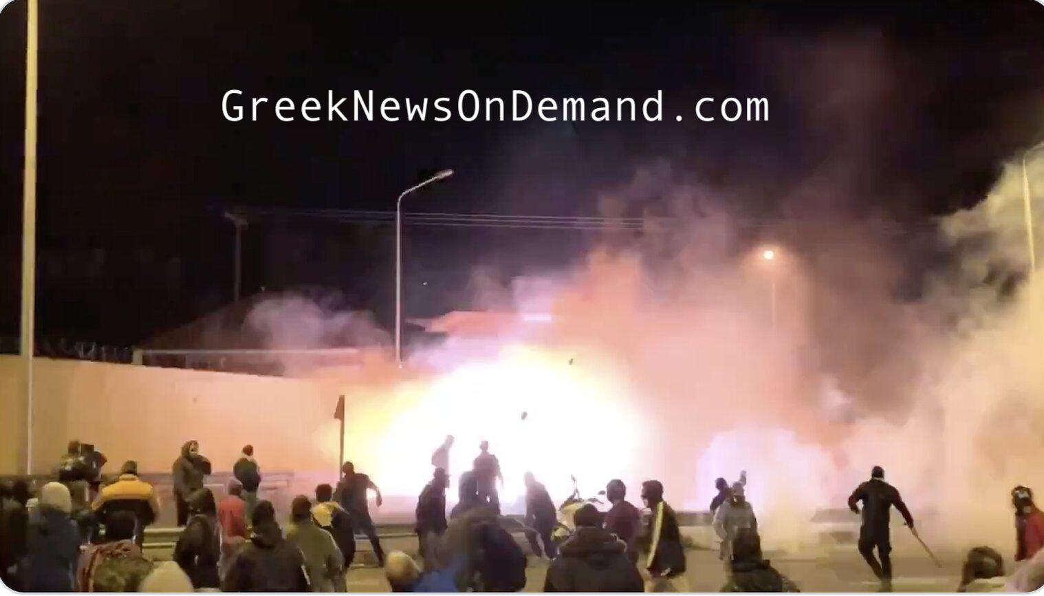 Greek citizens in Lesbos take situation there into their own hands, arm themselves