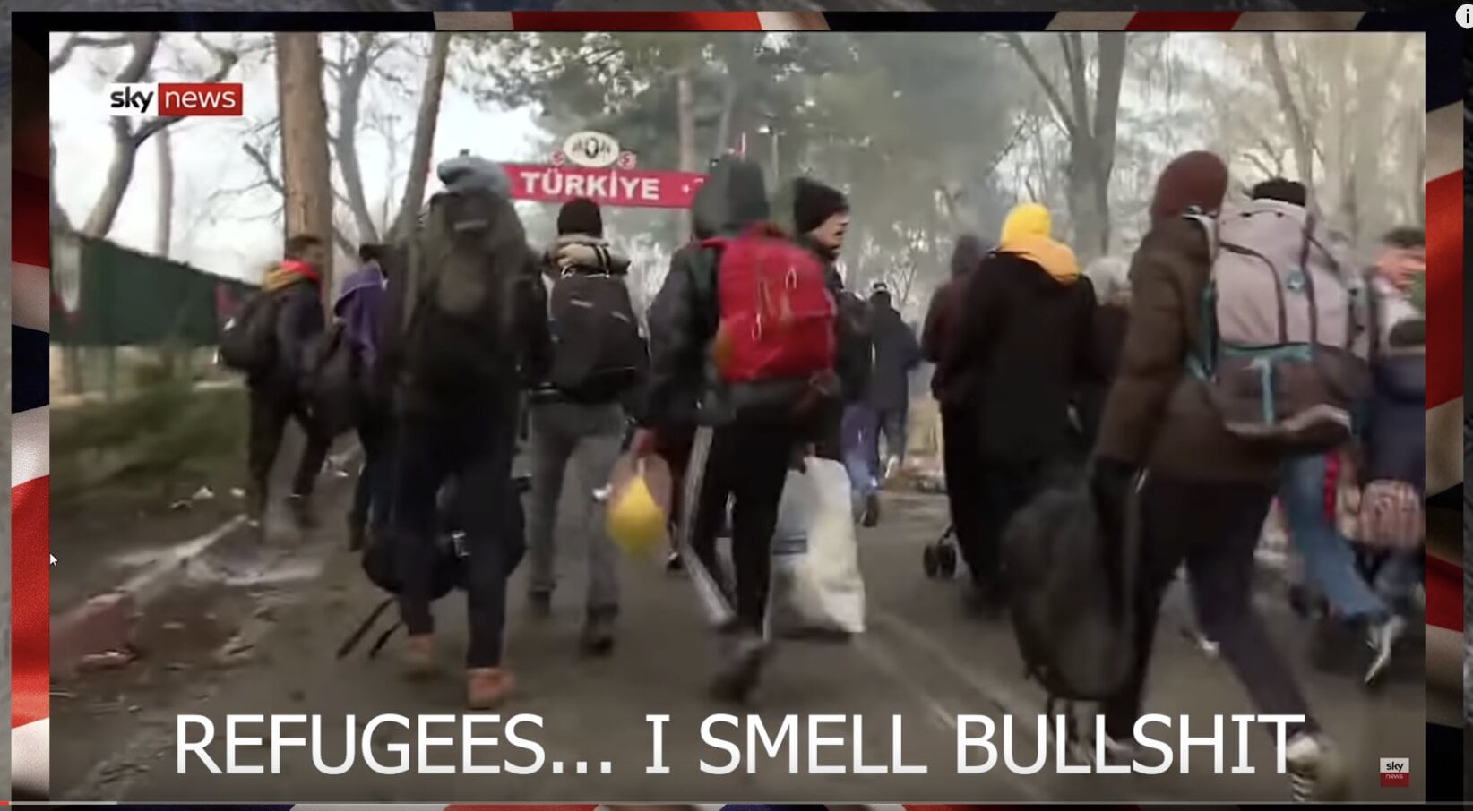 Economic Migrants Sent Packing By Greek Border Guards, Sky News Calls Them Refugees Obviously