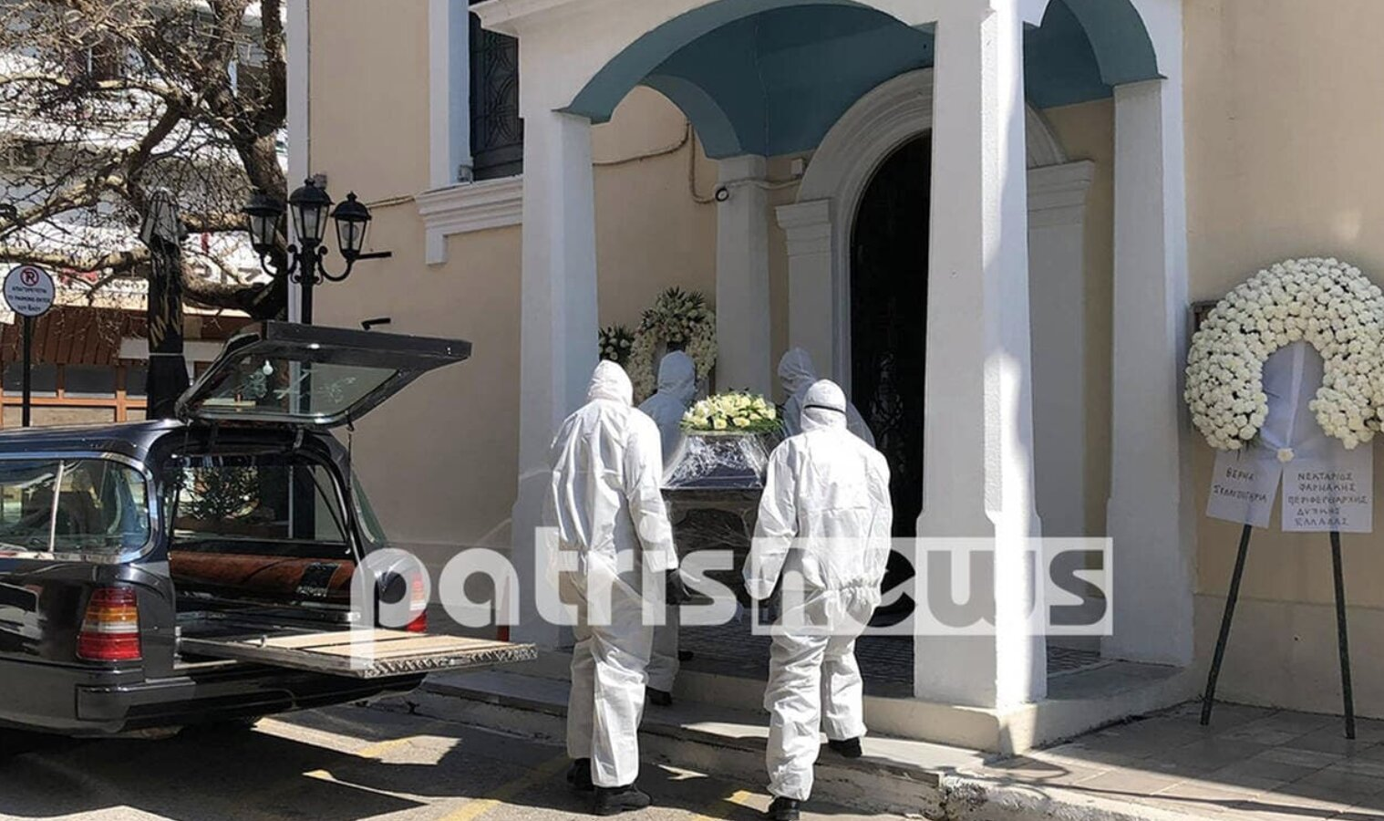 "First person to ""die"" in Greece from the coronavirus is laid to rest. The HOAX continues in Greece!…"