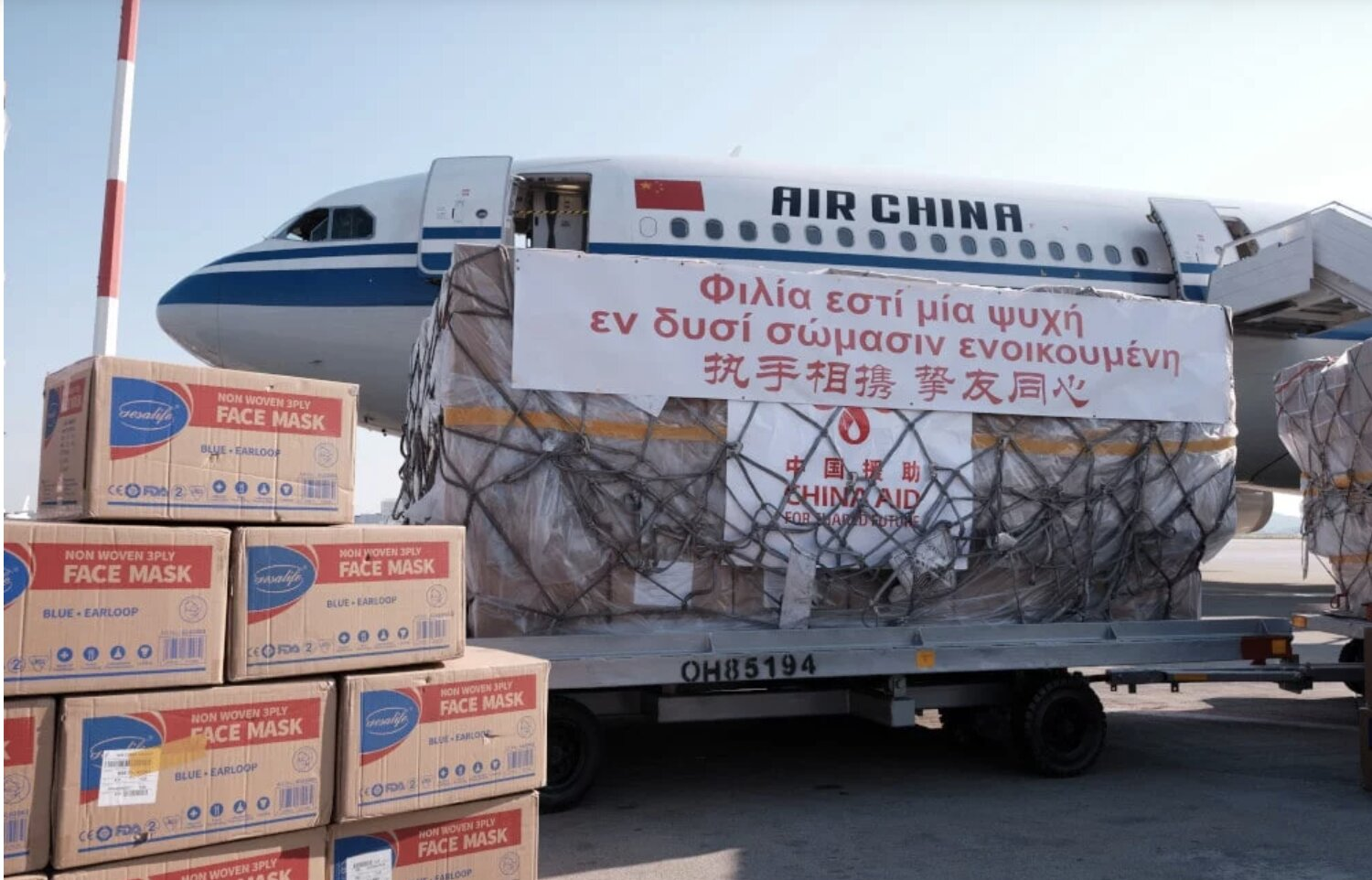 China sends planeload of medical supplies to Greece to keep the Coronavirus…FARSE going just for Greece