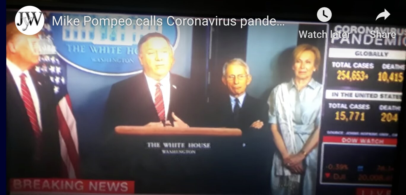 """Coronavirus"": Mike Pompeo calls Coronavirus pandemic a Exercise live on CNN"
