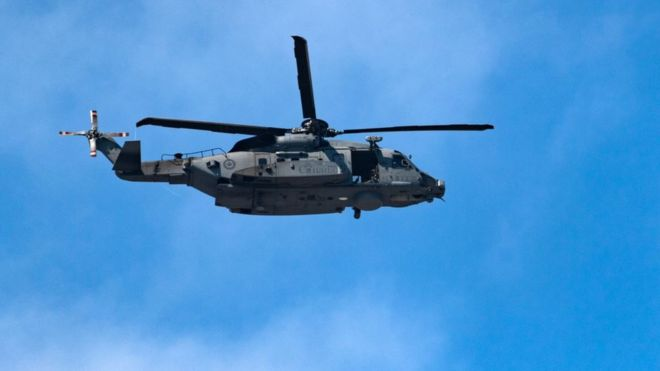 Canadian helicopter missing off Greece