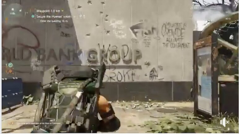 "From Tom Clancy's Division 2 video game ""This Virus is a Hoax"" (2019) / #Coronavirus #Covid"