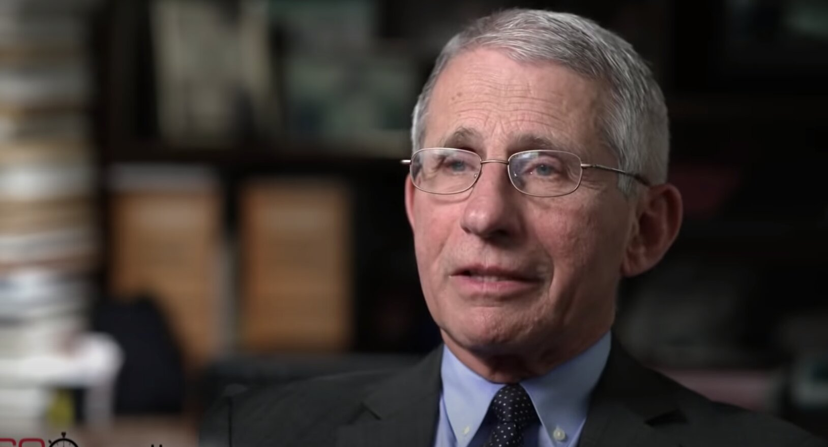 "Dr. Anthony Fauci: ""There's no reason to be walking around with a mask."" 