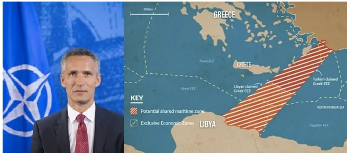 NATO head announces support for Libya's Muslim Brotherhood who aim to steal Greece's maritime space (VIDEO)