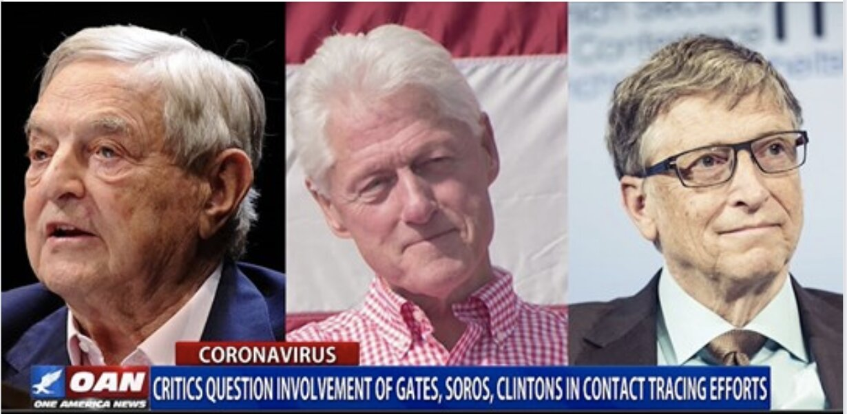 Critics question involvement of Gates, Soros, Clintons in contact tracing efforts