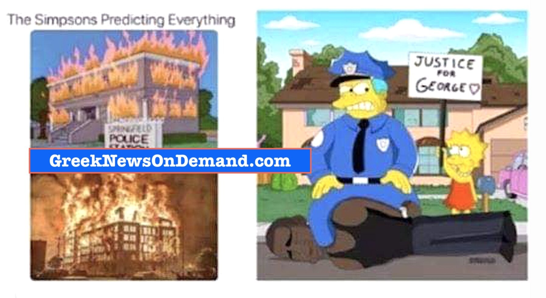 George Floyd's death predicted on the… SIMPSONS. The Sheeple are ALIVE AND WELL….