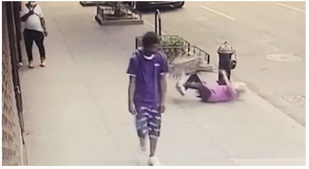 NYPD Arrest BLACK Thug Who Pummelled 92-Year-Old Grandma and Knocked Her to the Ground