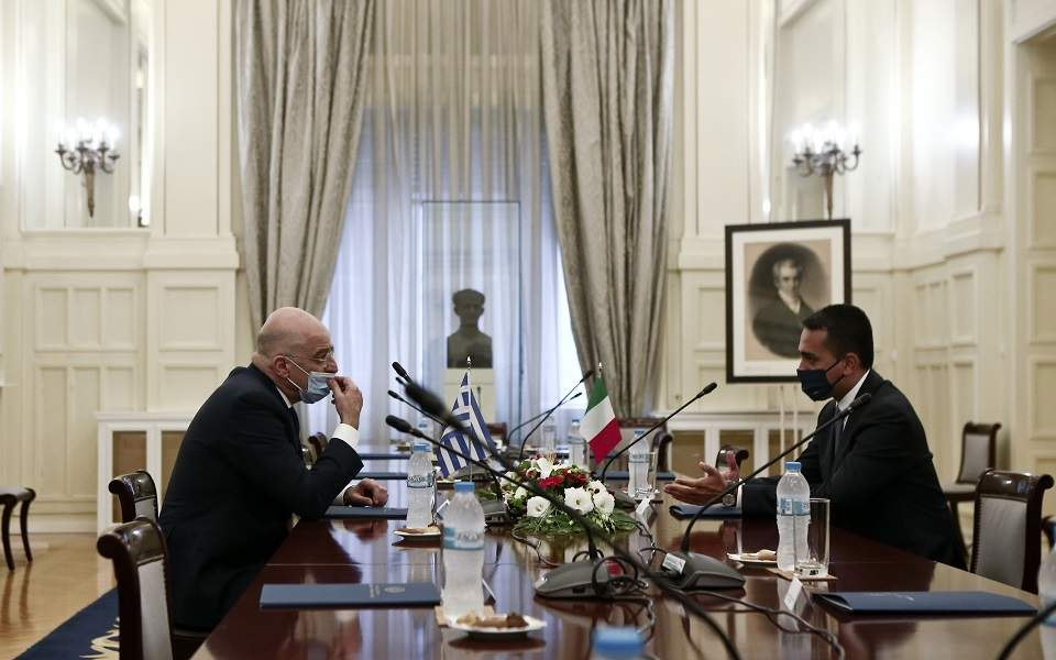 Greece and Italy sign 'historic' maritime borders accord