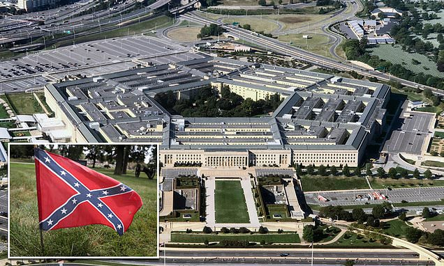 US Army chiefs mull plan to remove 'divisive' symbols including Confederate flag | Daily Mail Online